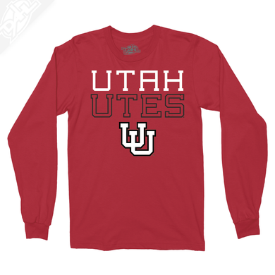 Utah Utes Outlined Interlocking UU - Long Sleeve