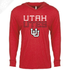Utah Utes Outlined Interlocking UU - T-Shirt Hoodie