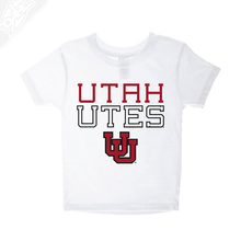Load image into Gallery viewer, Utah Utes Outlined Interlocking UU- Infant/Toddler Shirt