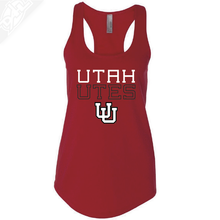 Load image into Gallery viewer, Utah Utes Outlined Interlocking UU- Womens Tank Top