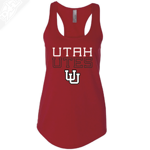 Utah Utes Outlined Interlocking UU- Womens Tank Top