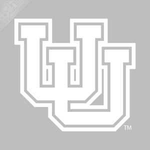 Interlocking UU Outline Vinyl Decal