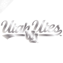 Load image into Gallery viewer, Utah Utes Script with Interlocking UU Vinyl Decal