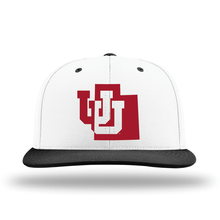Load image into Gallery viewer, White W/Black Brim Performance Series Hat