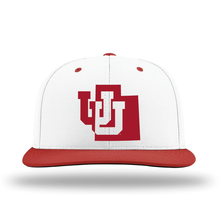 Load image into Gallery viewer, White W/Red Brim Performance Series Hat