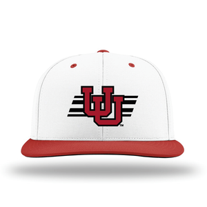 White W/Red Brim Performance Series Hat