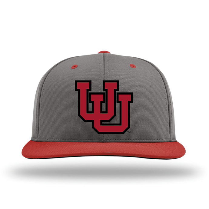 Charcoal W/Red Brim Performance Series Hat