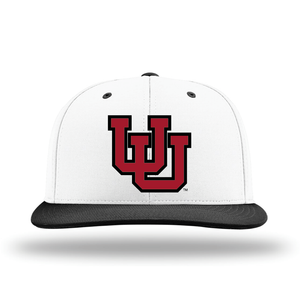 White W/Black Brim Performance Series Hat
