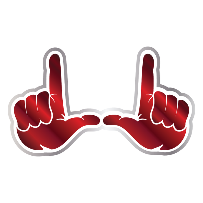 U Hands 2 Color Chrome Vinyl Decal
