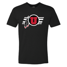Load image into Gallery viewer, Circle and Feather w/Utah Stripe - Mens T-Shirt