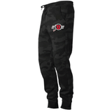 Men's Midweight Fleece Black Camo Joggers