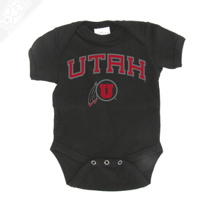 Utah Arch Circle and Feather - Onesie