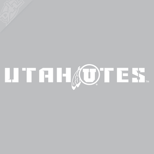 Utah Utes - Cicle and Feather Vinyl Decal