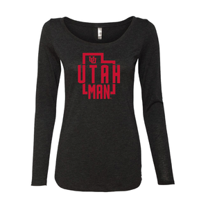 Utah Man - State -  Womens  Long Sleeve