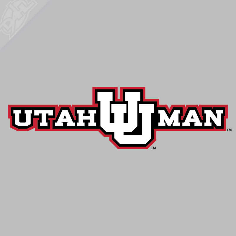 Utah Man - Interlocking UU 3 Color Vinyl Decal