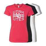 Utah Utes Arch - Interlocking UU - Womens T-Shirt
