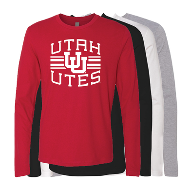 Utah Utes Arch - Interlocking UU - Long Sleeve