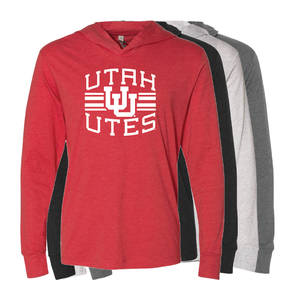 Utah Utes Arch - Interlocking UU -  T-Shirt Hoodie