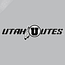 Load image into Gallery viewer, Utah Utes - Circle in Feather 2 Color Vinyl Decal