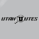 Utah Utes - Circle in Feather 2 Color Vinyl Decal