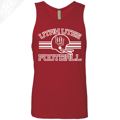 Utah Utes Football- Mens Tank Top