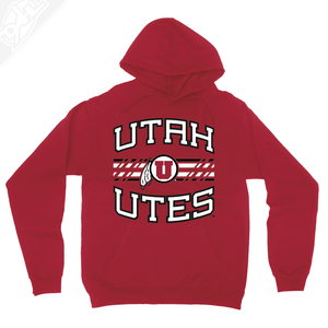 Utah Utes Wordmark Circle and Feather - Hoodie