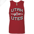 Utah Utes Wordmark Circle and Feather- Mens Tank Top