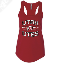 Load image into Gallery viewer, Utah Utes Wordmark Circle and Feather- Womens Tank Top