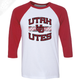 Utah Utes Wordmark Interlocking UU - 3/4 Sleeve Baseball Shirt