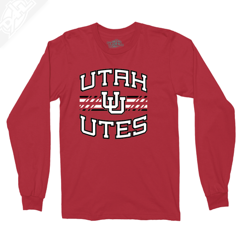 Utah Utes Wordmark Interlocking UU - Long Sleeve
