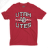 Utah Utes Wordmark Interlocking UU - Boys T-Shirt