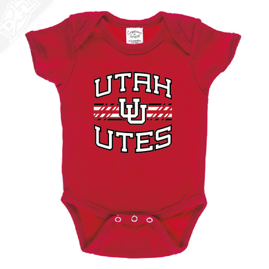 Utah Utes Wordmark Interlocking UU - Onesie
