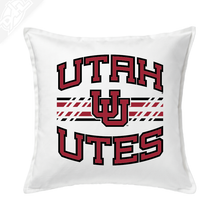 Load image into Gallery viewer, Utah Utes Wordmark Interlocking UU - Pillow