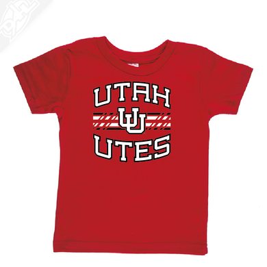 Utah Utes Wordmark Interlocking UU- Infant/Toddler Shirt
