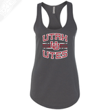 Utah Utes Wordmark Interlocking UU- Womens Tank Top
