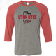 Utah Utes State w/Circle and Feather - 3/4 Sleeve Baseball Shirt