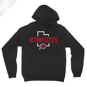 Utah Utes State w/Circle and Feather - Hoodie