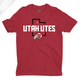 Utah Utes State w/Circle and Feather - Mens T-Shirt