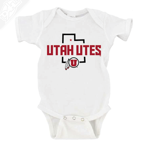 Utah Utes State w/Circle and Feather - Onesie