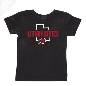 Utah Utes State w/Circle and Feather - Infant/Toddler Shirt