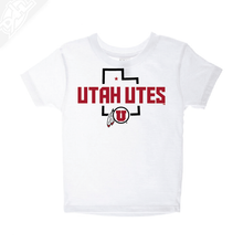 Load image into Gallery viewer, Utah Utes State w/Circle and Feather - Infant/Toddler Shirt