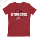 Utah Utes State w/Circle and Feather - Womens T-Shirt