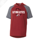 Utah Utes State w/Circle and Feather - Echo Short Sleeve Hoodie