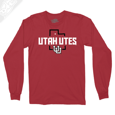 Utah Utes State w/Interlocking UU - Long Sleeve