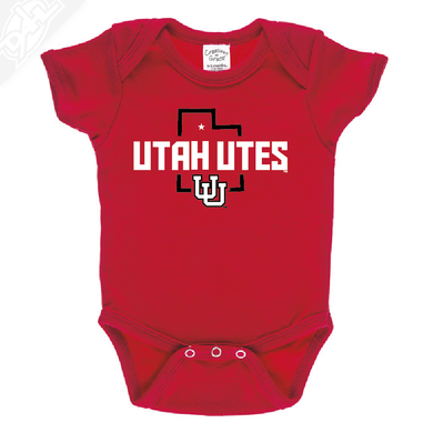 Utah Utes State w/Interlocking UU - Onesie