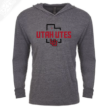 Load image into Gallery viewer, Utah Utes State w/Interlocking UU - T-Shirt Hoodie