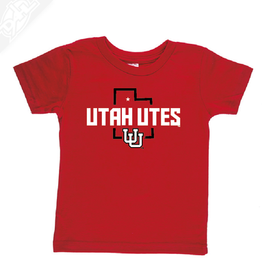 Utah Utes State w/Interlocking UU - Infant/Toddler Shirt