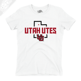 Utah Utes State w/Interlocking UU - Womens T-Shirt