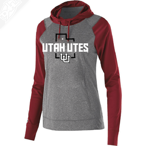 Utah Utes State w/Interlocking UU - Womens Echo Hoodie