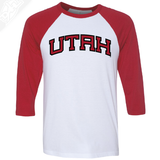 Utah Wordmark - 3/4 Sleeve Baseball Shirt